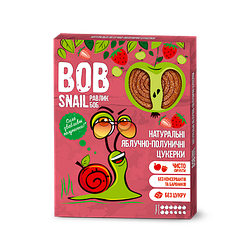 Натуральні фруктово-ягідні цукерки Яблоко-Полуниця Bob Snail, 120г