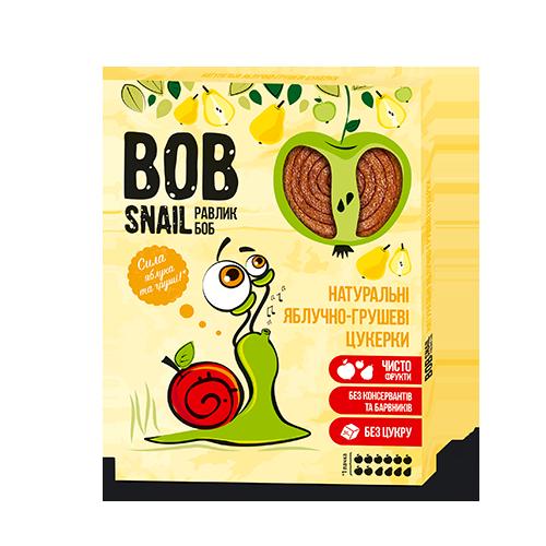 Натуральні фруктові цукерки Яблоко-Груша Bob Snail, 120г