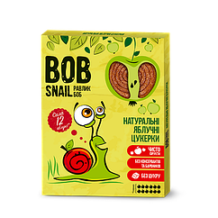 Натуральні фруктові цукерки Яблоко Bob Snail, 120г