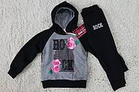 Утепленный спортивный костюм для девочки на 4 года