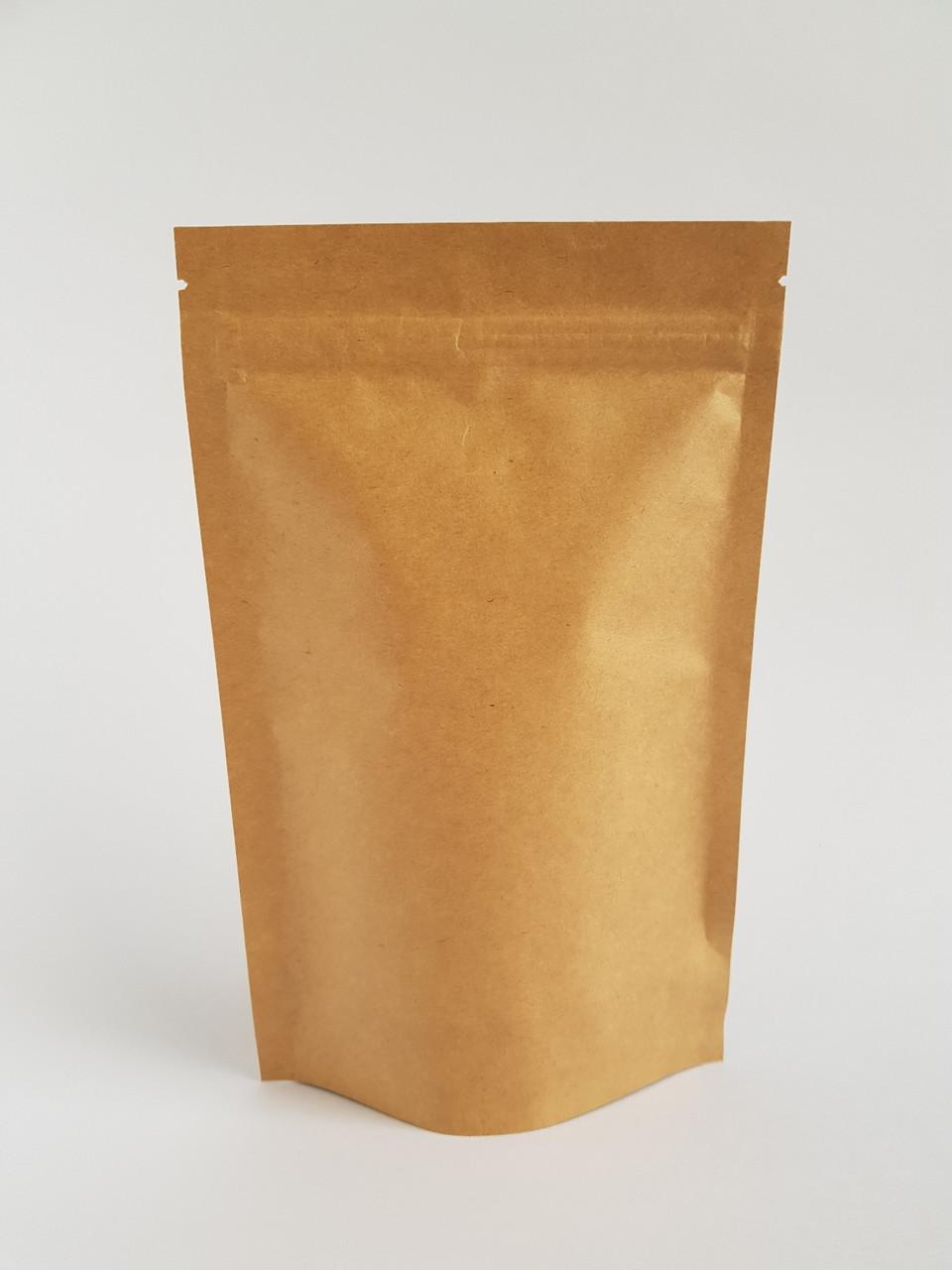Пакет дой-пак 180х280 (крафт / металл) / 100шт
