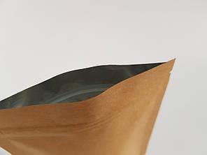 Пакет дой-пак 180х280 (крафт / металл) / 100шт, фото 2