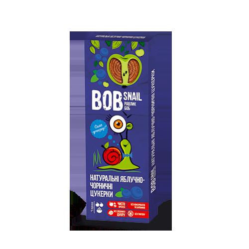Натуральні фруктово-ягідні цукерки Яблоко-Чорниця Bob Snail, 30г