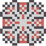 Схема на ткани для вышивания бисером Виктор - имя закадированное в вышиванке КМР 7115