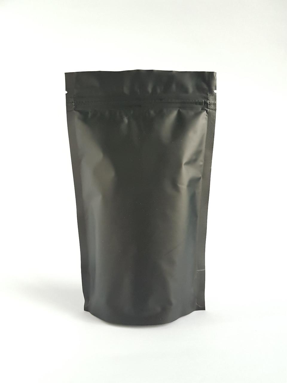 Пакет дой-пак 180х280 (черный матовый) / 100шт
