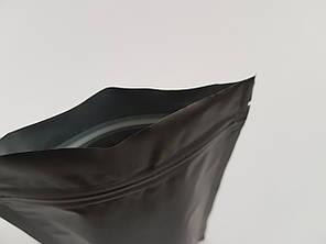 Пакет дой-пак 180х280 (черный матовый) / 100шт, фото 2
