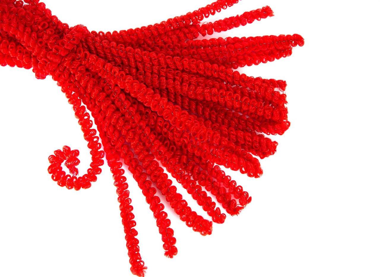 Синельна проволка  Кучерява 50шт  , червона