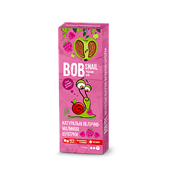 Натуральні фруктово-ягідні цукерки Яблоко-Малина Bob Snail, 30г