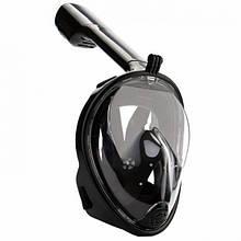 Маска для плавания FREE BREATH с креплением под камеру L/XL Черная (FB-63)