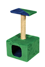 Домик-когтеточка Мур-Мяу Дом-1 Зеленый с синим (hub_LUBK36057)