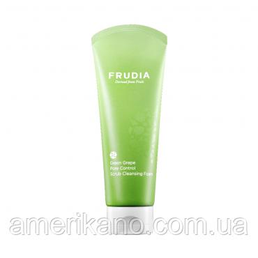 Зменшує пори мило-скраб з зеленим виноградом FRUDIA Green Grape Pore Control Scrub Cleansing Foam, 145 мл