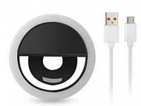Кольцо для селфи Selfie Ring Light XJ-01 на аккумуляторе Черный