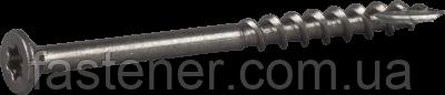 Саморез для террасной доски 4,2х55, нерж. сталь А2, TX20 упак. - 250 шт, Швеция
