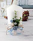 Свадебные свечи ручная работа в голубом цвете, фото 4