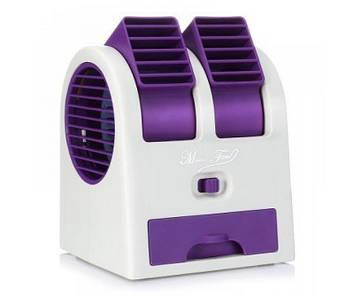 Портативный мини кондиционер вентилятор Kronos MINI FAN HB 168 Фиолетовый (sp_4395-4)