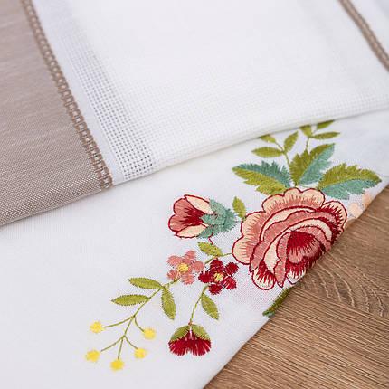 Скатерть с цветочной вышивкой 140х180, фото 2