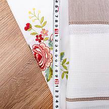Скатерть с цветочной вышивкой 140х180, фото 3