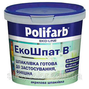 Шпаклівка акрилова ЕкоШпат B 5.5 кг Polifarb (Шпатклевка, Поліфарб, Фінішна)