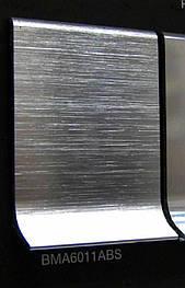 Плінтус Luciano  Алюмінієвий 60x11x2000 Срібло глянцева брашований