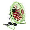 Портативный мини-вентилятор Fan Mini Sanhuai A18 Green + Red настольный USB (3175-9869), фото 4