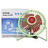 Портативный мини-вентилятор Fan Mini Sanhuai A18 Green + Red настольный USB (3175-9869), фото 7