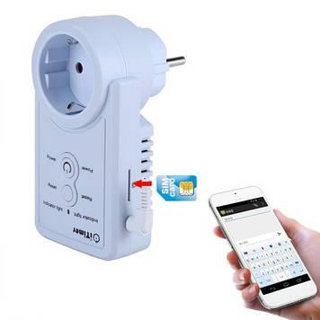 Умная GSM розетка с датчиком температуры Vbestlife iTimer USB Белый (100154)