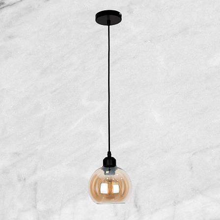 Кофейный 15см-ШАР стеклянный подвес, фото 2