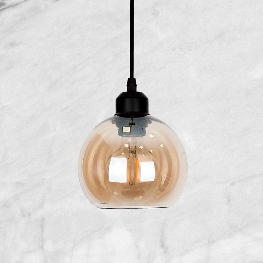 Кофейный 15см-ШАР стеклянный подвес