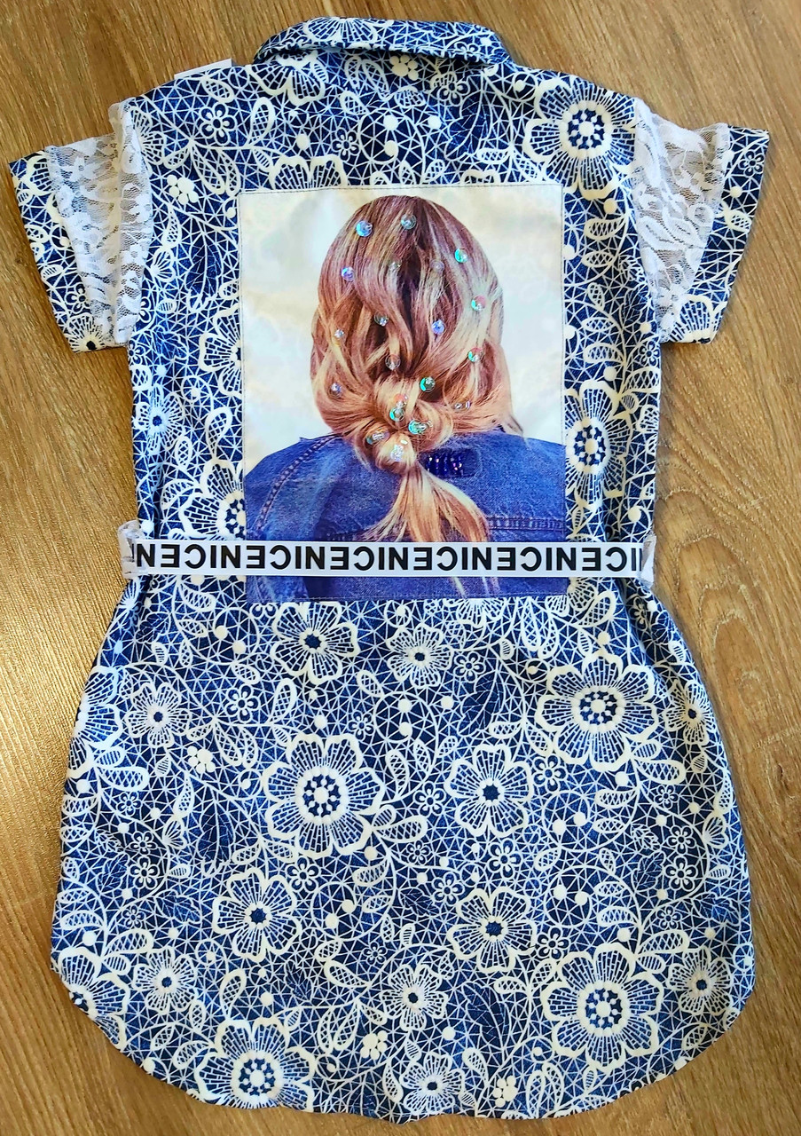 Детская рубашка на девочку SUPER размеры 38