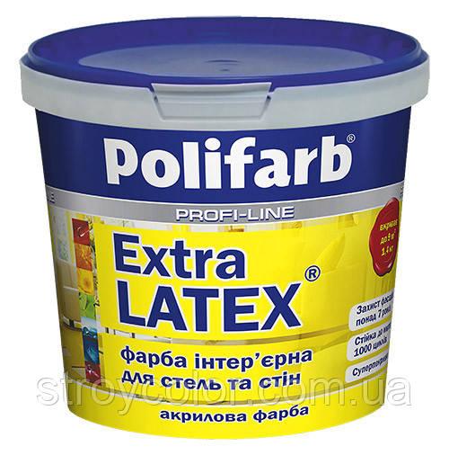 Латексная краска ExtraLatex 4.2кг - 3л Polifarb (Акриловая, Водоэмульсионная, Полифарб)