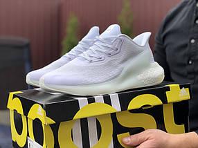 Чоловічі кросівки білі класичні лаконічні, фото 2
