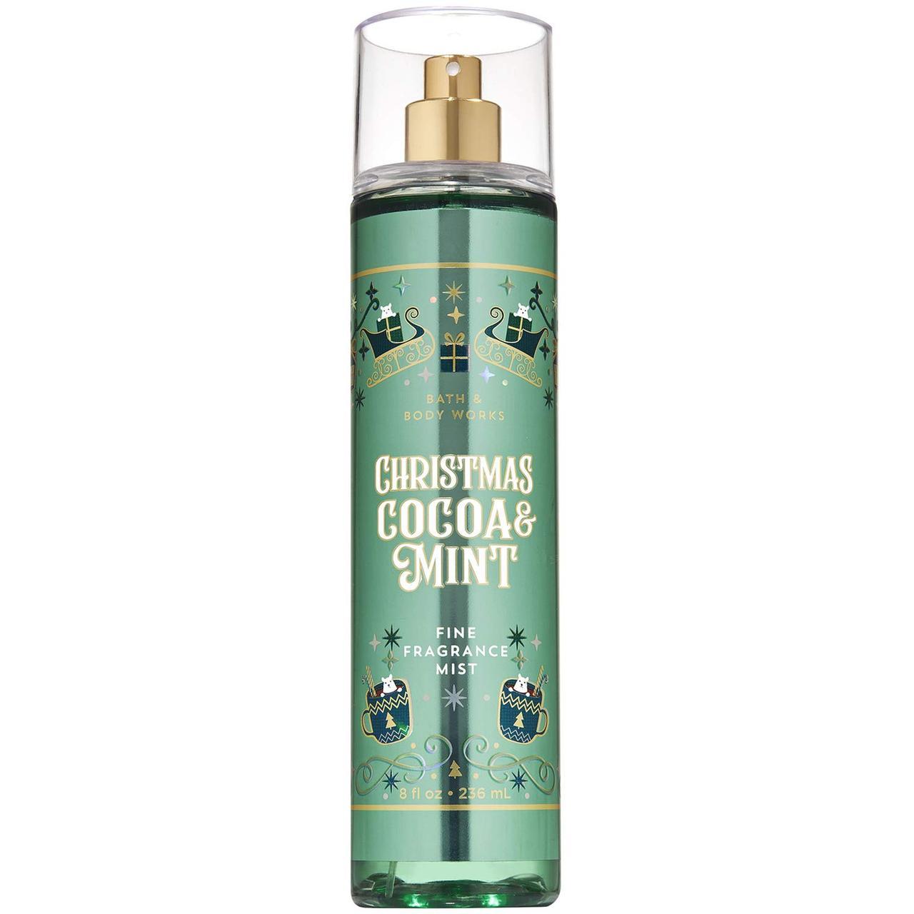 Спрей для тела Bath & Body Works Christmas Cocoa and Mint Fragrance Mist 236 мл
