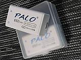 2 шт. Акумулятор Крона 9V 650mAh Li-Ion PALO зарядка micro USB Пинпоинтер Металодектор, фото 3