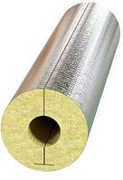 Цилиндр базальтовый с покрытием алюминиевая фольга для утепления труб