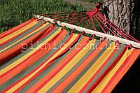 Двухместный гамак с планкой 120х200см. Тканевый садовый, дачный, хлопковый, подвесной. Выдержит 150 кг. №5