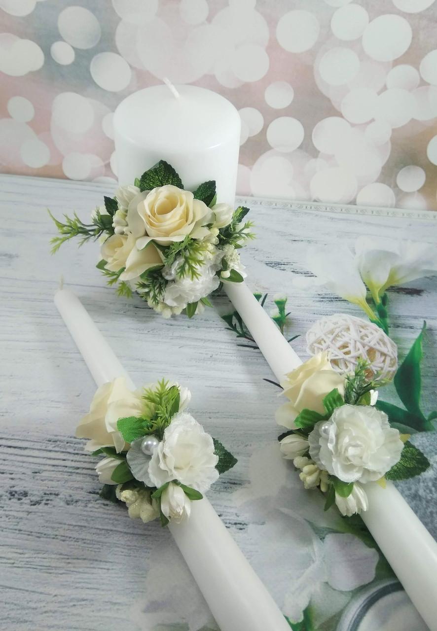 Свадебные свечи ручная работа