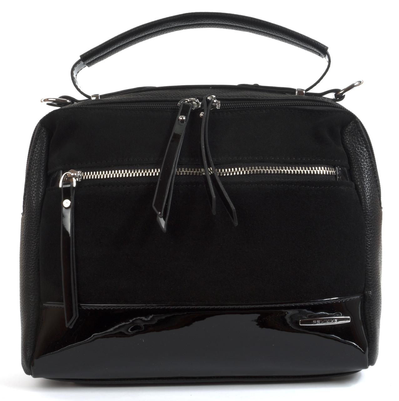Стильная женская сумка с замша и лака Baliviya art. 68917