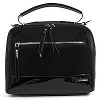 Стильная женская сумка с замша и лака Baliviya art. 68917, фото 1