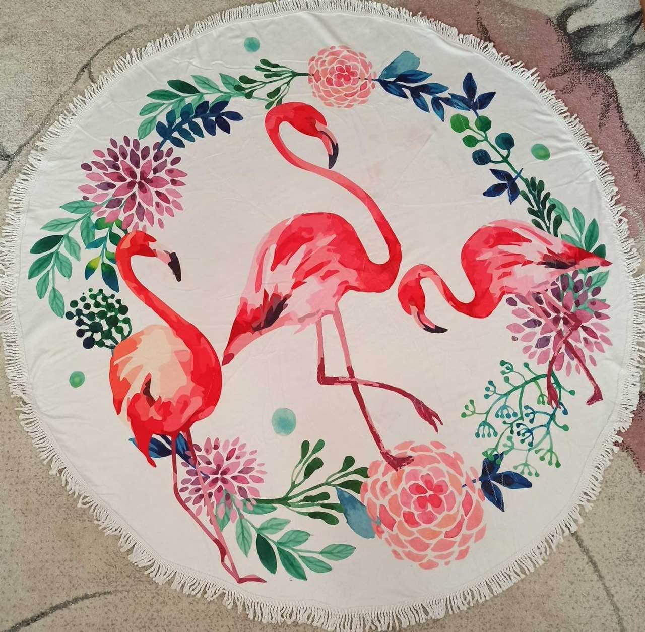 Коврик для пляжа Фламинго (150 см '150 см)
