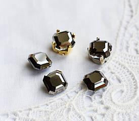 Стрази скляні 8 мм (SS39), гематит