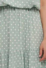 Платье лето больших размеров длинное в горошек, фото 3