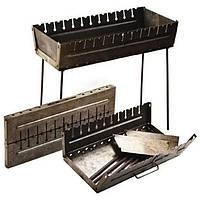 Мангал чемодан раскладной STENSON на 12 шампуров