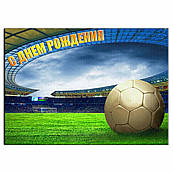 Футбольное поле 1 вафельная картинка