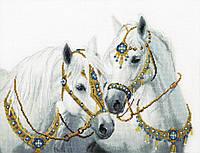 Набор для вышивки крестиком Свадебные лошади 39x30 см Vervaco