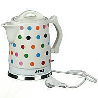 Електрочайник керамічний A-PLUS 1.7 л чайник електричний, фото 1