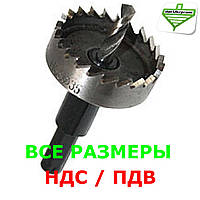 Фреза корончатая по металлу 60 мм // Р6М5-с/о