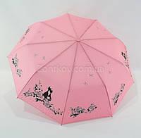 """Складной женский зонтик полуавтомат с кошками от фирмы """"Fiaba"""", фото 1"""