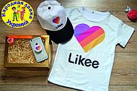 Подарочный набор Likee. BOX Лайк 3 в 1. Футболка, кепка, попсокет .