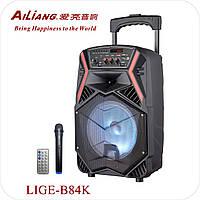Колонка Комбоусилитель Ailiang LIGE-B84 Колонка с радиомикрофоном и пультом-ДУ
