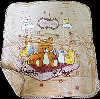 Плед детский двухсторонний 100*110 TM Koloco бежевый, фото 1